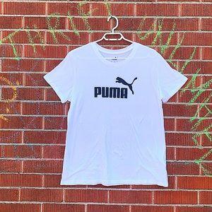 PUMA plain white T-Shirt men
